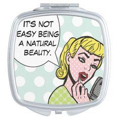 Natural Beauty Comic Book Compact Mirror  http://www.zazzle.com/natural_beauty_comic_book_compact_mirror-256741241220791111?rf=238054403704815742