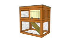 How to build a rabbit hutch step by step. Could be adapted for inside with a lower side door to play area. EW