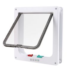 wowowo(TM) Small Cat Flap with 4 Way Locking Lockable Pet Door, Plastic, White -- Hurry! Check out this great product : Cat furniture