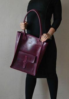Сумка Шоппер с карманом. Натуральная кожа. Ручная работа. http://crafta.ua/ #craftaua #handmade #bag #leather #сумка #ручнаяработа #кожанаясумка #женскаякожанаясумка