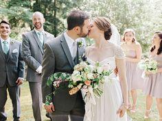 Photography : Amy Arrington Photography   Bridesmaids Dresses : JCrew   Wedding Dress : Reem Acra   Event Planning + Design : Chancey Charm   Floral Design : Amy Osaba   Venue : Dunaway Gardens Read More on SMP: http://www.stylemepretty.com/2016/02/11/classic-springtime-dunaway-gardens-wedding/