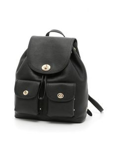 COACH Mini Turnlock Backpack. #coach #bags #leather #lining #backpacks #