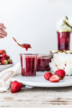 Easy strawberry jam / jam making/ Jednoduchý jahodový džem Sweets Images, Baking Recipes, Dessert Recipes, Desserts, Food Photography Props, Product Photography, Easy Strawberry Jam, Biscuits, Sweet Jars