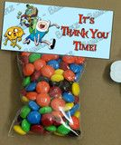 Adventure Time Birthday Party Favor Label