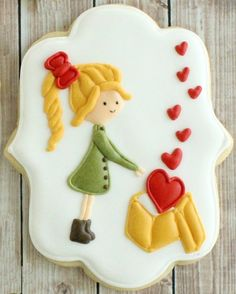 Valentine's Day decorated sugar cookie by Cookie Bliss
