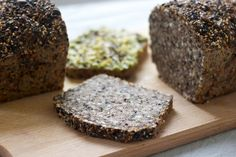 Seedy Buckwheat Bread - commercial yeast and flour Buckwheat Bread, Almond Flour Bread, Buckwheat Recipes, Almond Flour Recipes, Paleo Flour, Low Carb Recipes, Bread Recipes, Cooking Recipes, Cake Recipes