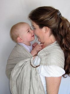 Linen Ring Sling Baby Sling Carrier  Natural by lilpeeperkeepers, $55.00