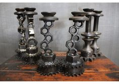 Nut and bolts candle holder