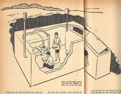 People really built these-fallout shelter Survival Shelter, Emergency Shelters, Bomb Shelter, Nuclear War, Urban Survival, Survival Skills, Survival Gear, Atomic Age, Retro Toys