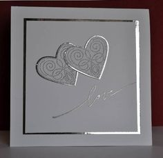 handmade valentine card | simple and elegant when time is short