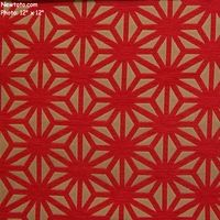 """""""Kirigami - Flame"""" Origami Pattern Textured Chenille Fabric from Arc-Com Fabrics, Inc"""