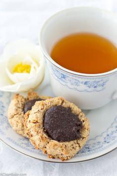 Paleo Chocolate Hazelnut Thumbprint Cookies