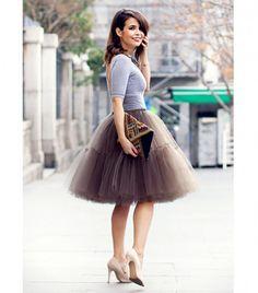 20 Ways Stylish Women Are Wearing Tulle Skirts   StyleCaster