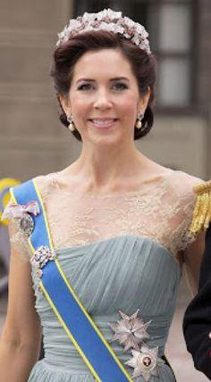 Wearing tiaras - Crown Princess Mary of Denmark in a tiara.jpg