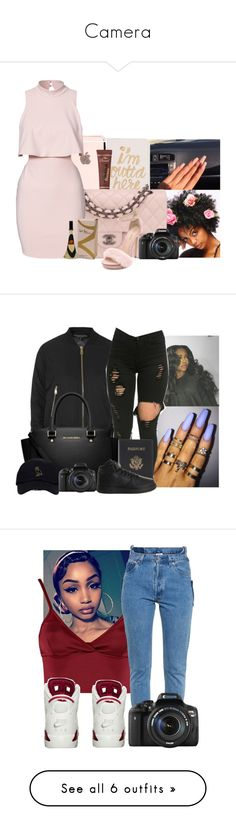 """""""Camera"""" by zonniqueplease ❤ liked on Polyvore featuring Bando, Disney, Chanel, Monique Lhuillier, Eos, Topshop, MICHAEL Michael Kors, Royce Leather, NIKE and Lipsy"""