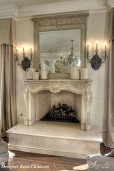 This is a stunning fireplace & hearth. | Roses and Rust: A Book full of Beauty