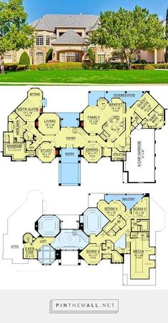 ft Dream Home Plan with Heart-Shaped Bedroom – [pin_pinter_full_name] 8458 sq. ft Dream Home Plan with Heart-Shaped Bedroom 8458 sq. ft Dream Home Plan with Heart-Shaped Bedroom Luxury House Plans, Dream House Plans, House Floor Plans, My Dream Home, Luxury Floor Plans, Built In Buffet, Cheverny, Grand Foyer, Modern Mansion