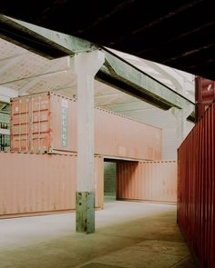 Venice architecture studio AMAA has installed eight shipping containers in an Italian factory as a permanent installation that aims to investigate what architecture is. British Architecture, Contemporary Architecture, Amazing Architecture, Modular Structure, Container Architecture, Shed Roof, Research And Development, Create Space, Cool Landscapes