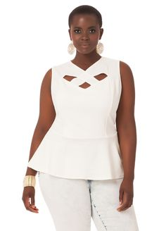 Crisscross Peplum - Ashley Stewart