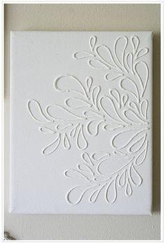 white dimensional wall art