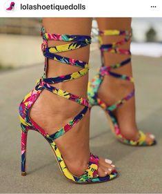 New women's fashion strappy heels mulit color tocuri stiletto, tocuri stile Hot Shoes, Crazy Shoes, Me Too Shoes, Crazy High Heels, Lace Up Heels, Pumps Heels, Stiletto Heels, Heeled Sandals, Sexy Heels
