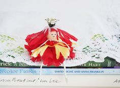 Flower Petal Fairy Doll with Heart by FairyLynne on Etsy