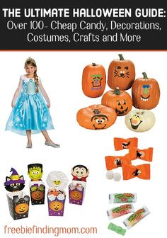 The Ultimate Halloween Guide - To help prepare for the scariest night of the year here are over 100 cheap bulk Halloween candy, decorations, costumes, crafts and more! Happy Halloween!