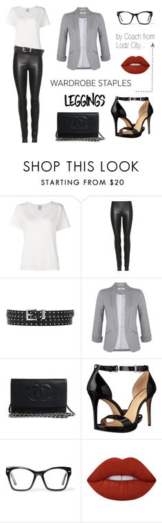 """Casual friday..."" by mario1977lodz ❤ liked on Polyvore featuring Visvim, The Row, Miss Selfridge, MICHAEL Michael Kors, Spitfire, Lime Crime, Leggings and WardrobeStaples"