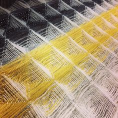Work-in-progress: hand woven sampling for final panel, 2016 Visible Mending, Fibre And Fabric, Wool Embroidery, Darning, Loom Weaving, Knitting Stitches, Basket Weaving, Textile Design, Hand Sewing