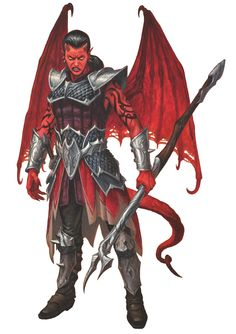 Cambion (from the D&D fifth edition Monster Manual). Art by Milivoj Ceran.