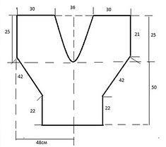 patrones de blusa cuello V mangas rectas