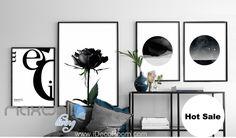 Black Rose Star Night Merci Canvas Prints Wall Decals Art Decor Unframed IDCCV-BO-000227
