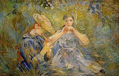Mary Cassatt, Renoir, Julie Manet, Ile De Wight, Berthe Morisot, Art Database, Famous Art, Old Art, Cover Photos