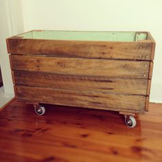 Old fence turned Shoe box