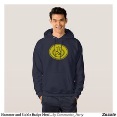 Hammer and Sickle Badge Men's Shirts - Stylish Comfortable And Warm Hooded Sweatshirts By Talented Fashion & Graphic Designers - #sweatshirts #hoodies #mensfashion #apparel #shopping #bargain #sale #outfit #stylish #cool #graphicdesign #trendy #fashion #design #fashiondesign #designer #fashiondesigner #style