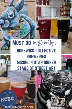 A Day in the Life: Street Art (Bushwick Collective), Breweries & a Michelin Star Restaurant in Brooklyn - Trail Advocacy New York City Vacation, New York City Travel, Travel Usa, Travel Tips, Globe Travel, Travel Guides, Travel Destinations, Best Street Art, Michelin Star