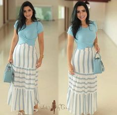 Classy Outfits, Casual Outfits, Modest Fashion, Fashion Dresses, Cute Dresses, Casual Dresses, Skirt Patterns Sewing, Skirt Outfits, Dress To Impress