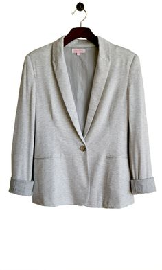 Wear this comfy blazer all day. It's made of soft cotton inside and out. It's a no brainer. The sweatshirt look is universally known for comfort. You know the drill! Just add some jeans and a tee. Both the boss and your best buds will surely approve.