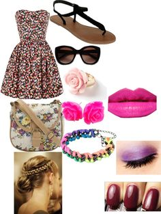 """Girly Girl Style"" by gisellesuarez16 ❤ liked on Polyvore"