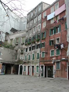 Jewish Ghetto - Venice, Italy - The condition of some of the outsides of the buildings in the ghetto seems rather decrepit. A number of the buildings have been around for centuries. Every few decades, restoration is necessary