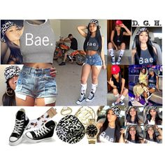 Bae. by dopegenhope on Polyvore featuring Converse, Caravelle by Bulova, Allurez, women's clothing, women's fashion, women, female, woman, misses and juniors