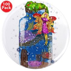 "3.5"" Button (100 Pack) www.teeliesfairygarden.com Need to say it big and bold? Pin on our oversized button and your message can't be missed. #fairybutton"
