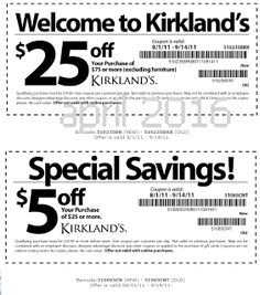 Kirklands Coupons PROMO expires June 2020 Hurry up for a BIG SAVERS Kirklands is a retail chain with more than 300 stores in more than Dollar General Couponing, Coupons For Boyfriend, Coupon Stockpile, Free Printable Coupons, Love Coupons, Grocery Coupons, Extreme Couponing, Coupon Organization, Coupon Deals
