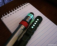 Pens with glow/epoxy modifications