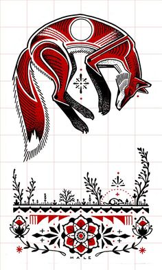 david hale fox - My fav tattoo! Wolf Tattoos, Animal Tattoos, Coyote Tattoo, Fox Tattoo, Arte Tribal, Tribal Art, Native Art, Native American Art, American Symbols