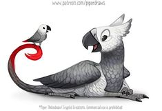by Piper Thibodeau Search And Rescue, Exotic Birds, Cute Illustration, Still Image, Online Art Gallery, Cool Art, Awesome Art, African, Kawaii