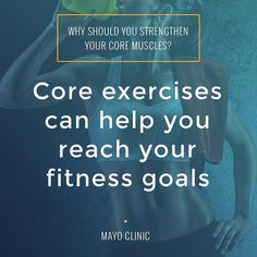 Aerobic exercise and muscular fitness are the primary elements of most fitness programs. But to have a well-rounded fitness program consider including core exercises in the mix as well. Find our 15-minute core workout app by clicking on our profile link @
