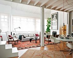 Rugs, white & fig