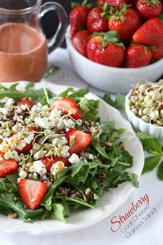 Strawberry Goat Cheese Quinoa Salad by Nutmeg Nanny