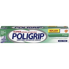 #Beauty #Health #teeth whitening Super Poligrip Original Formula Zinc Free Denture Adhesive Cream, 2.4 ounce (Pack of 4)  A zinc-free denture adhesive cream with no artificial colors or artificial flavors. Even well-fitting dentures are susceptible to food particles that can cause discomfort....